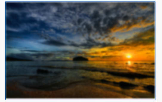 An image of a Blurred sunset image