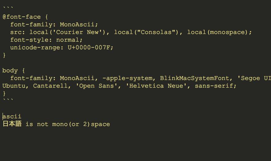 ascii only monospace font-face - DEV Community 👩 💻👨 💻