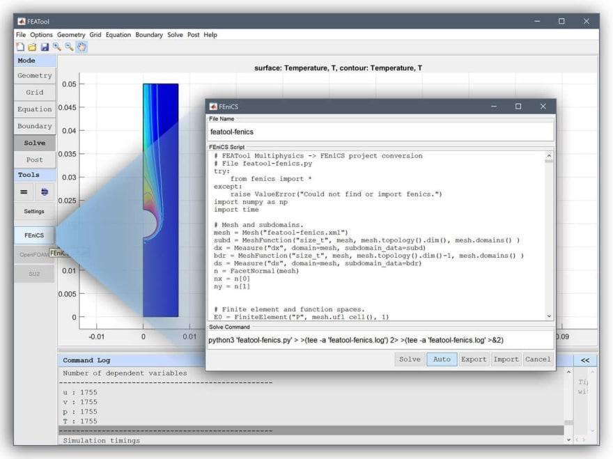 FEATool-FEniCS GUI Interface