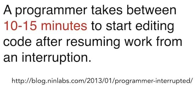 interruption cost