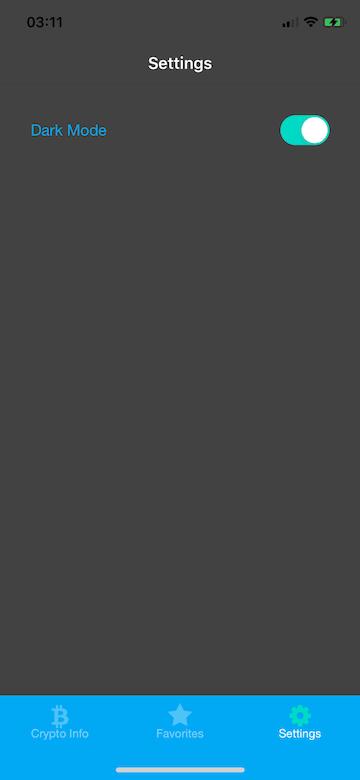 SettingsScreen In Dark Mode