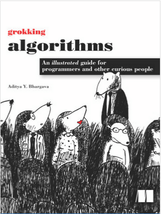 Grokking Algorithms cover with 5 rats sitting and one standing
