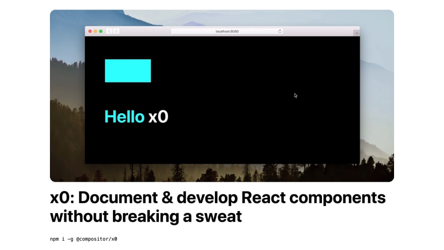 x0 Homepage
