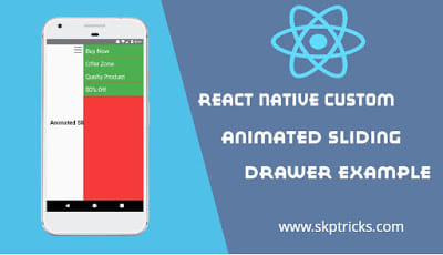 React Native Custom Animated Sliding Drawer Example - DEV Community