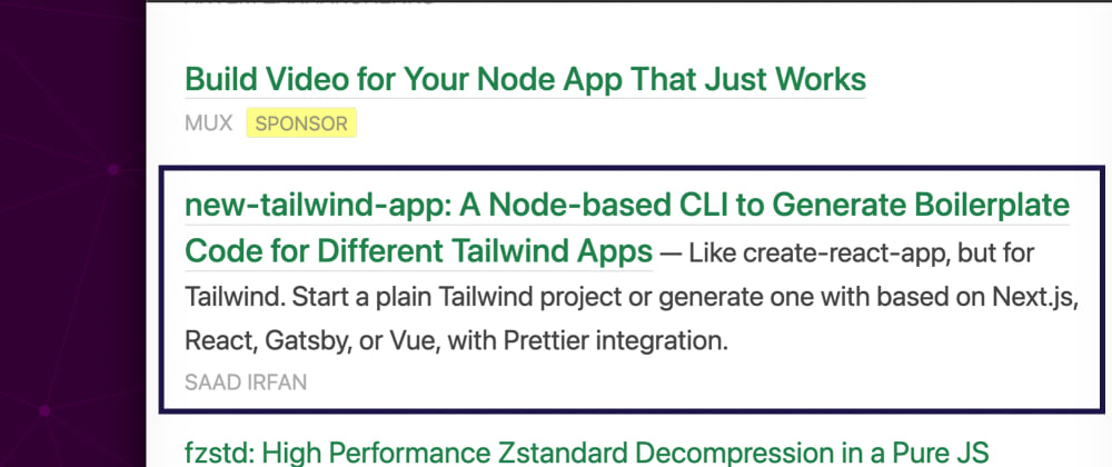 Cover image for I got featured for my work with Tailwind CSS