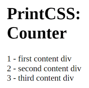 The result of the above HTML and CSS code