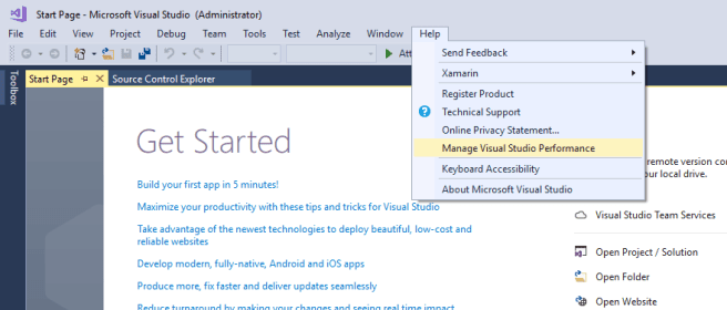 Visual Studio Help