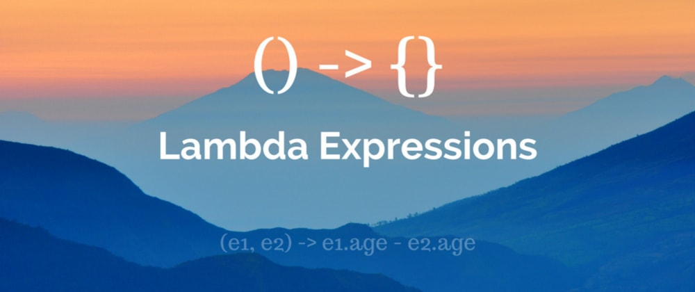 Cover image for Lambda Expression