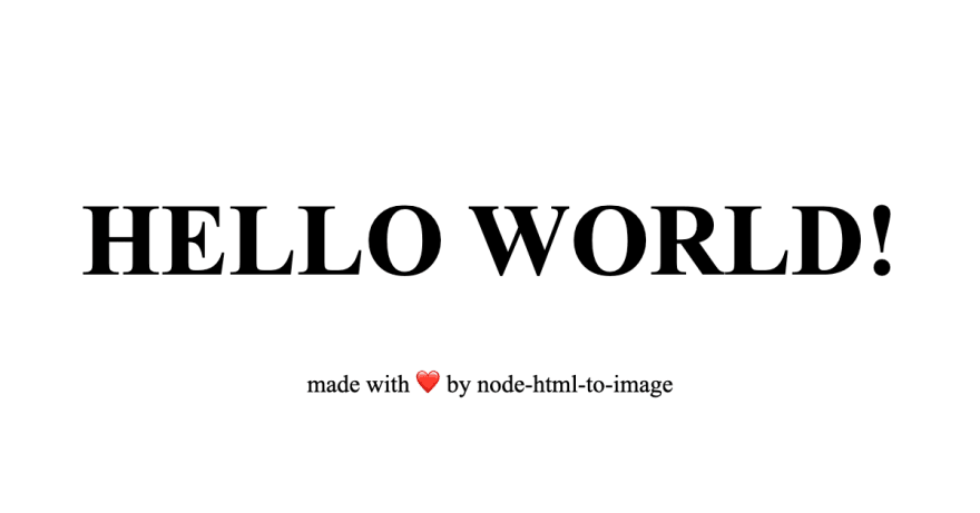 An image with Hello world in it