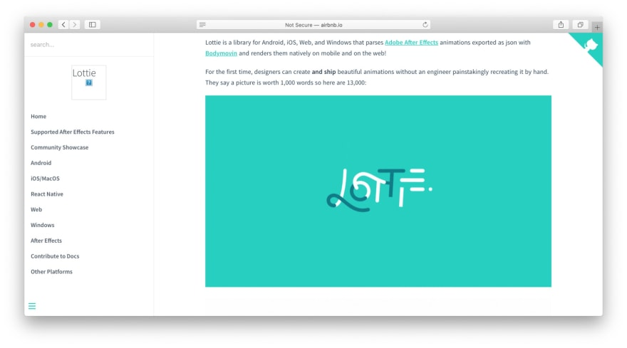 JavaScript libraries: Lottie