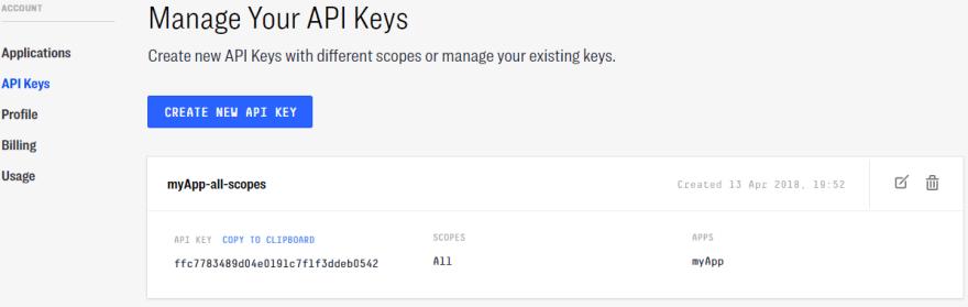 clarifai api keys