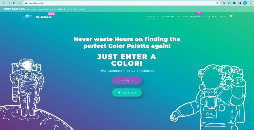 ColorSpace website screenshot