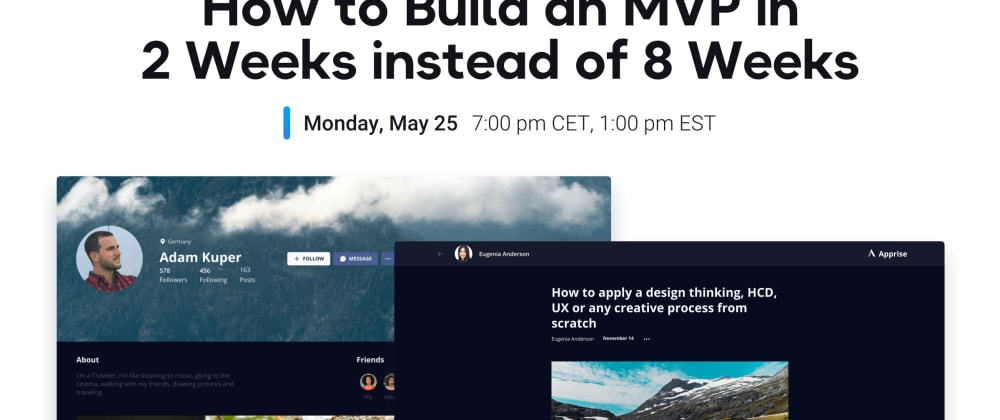 Cover image for How to build an MVP in 2 weeks without coding - UI Bakery Webinar