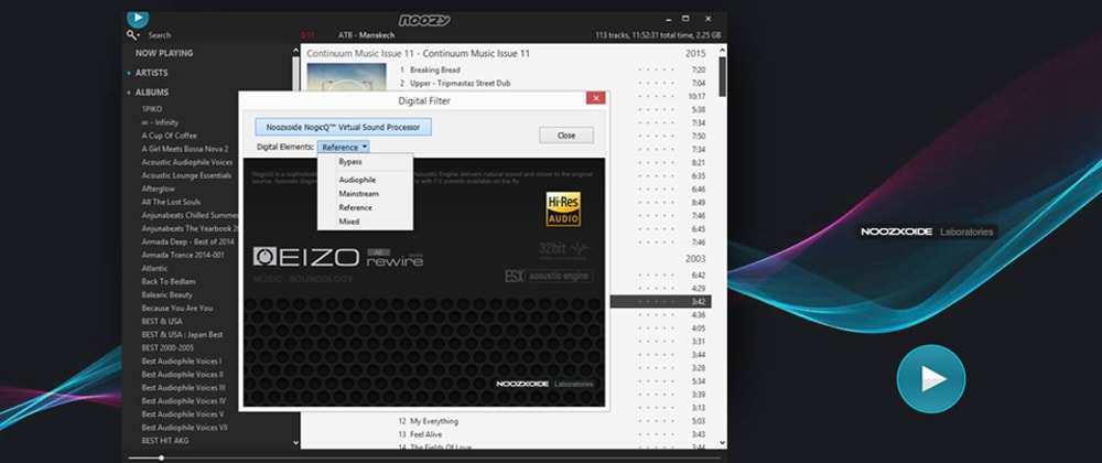 Cover image for Unofficial release of `noozy` audiophile-grade music player (Linux/Win)