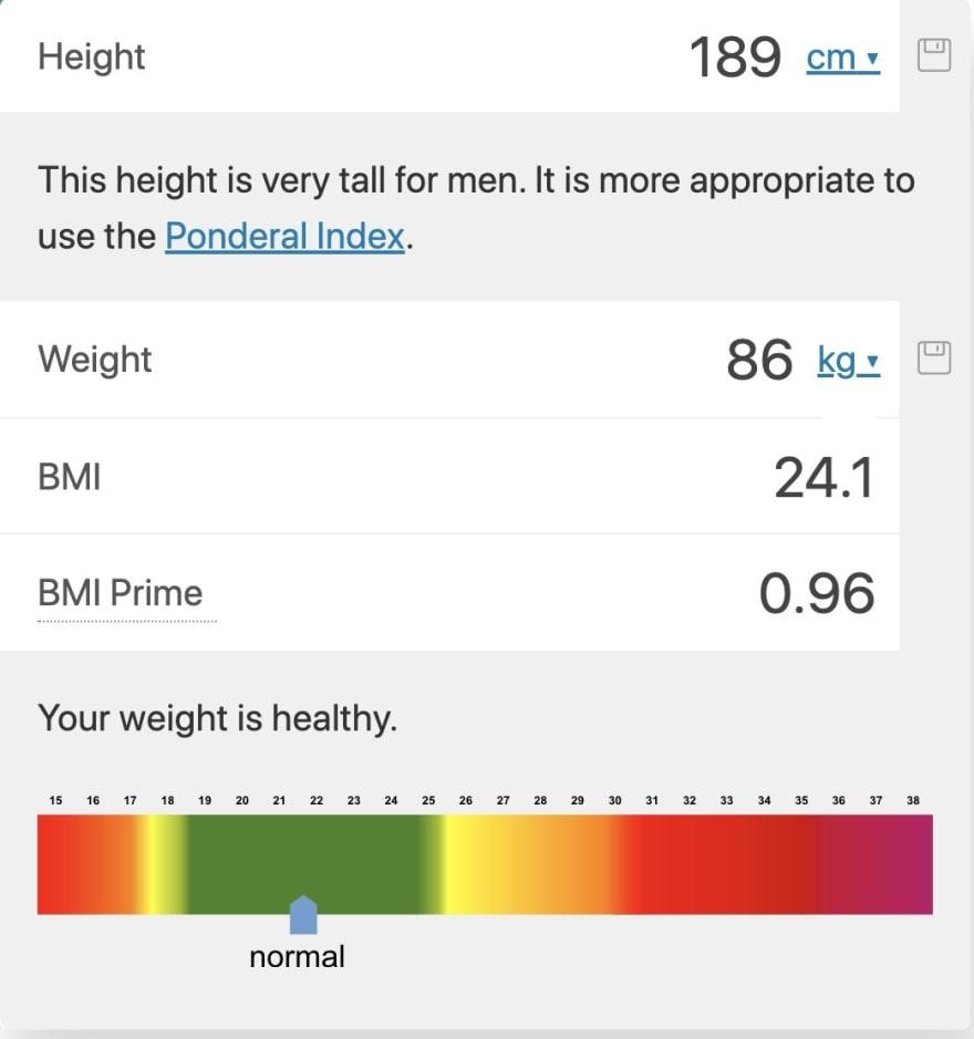 Widget to calculate BMI
