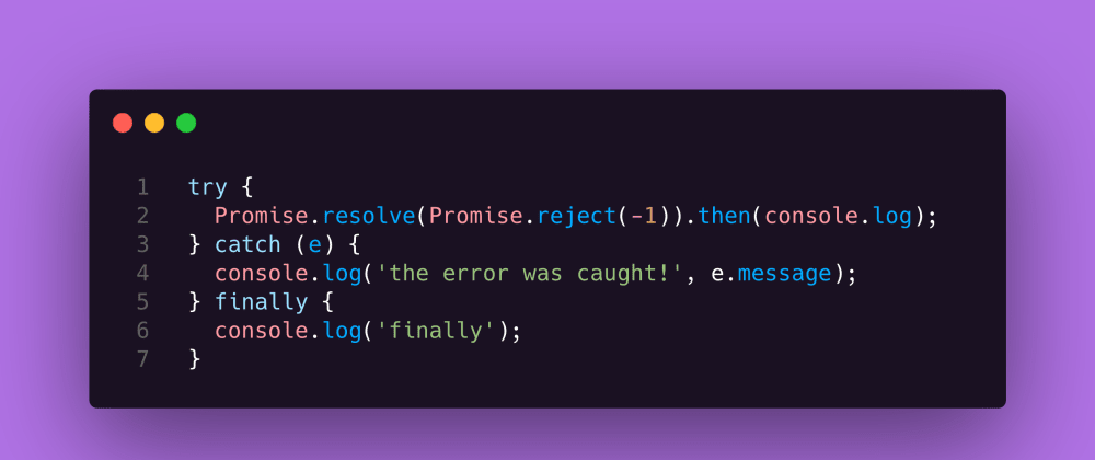 Cover image for JavaScript Interview Question #30: Reject inside resolve