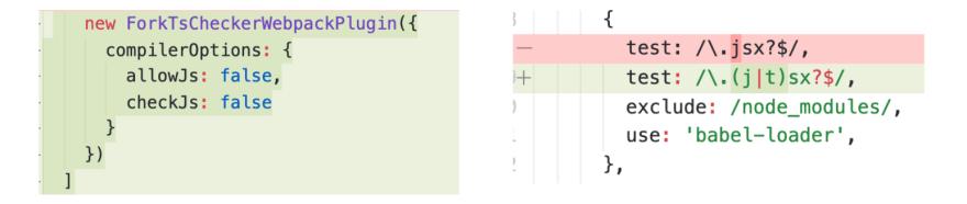 webpack config for .tsx
