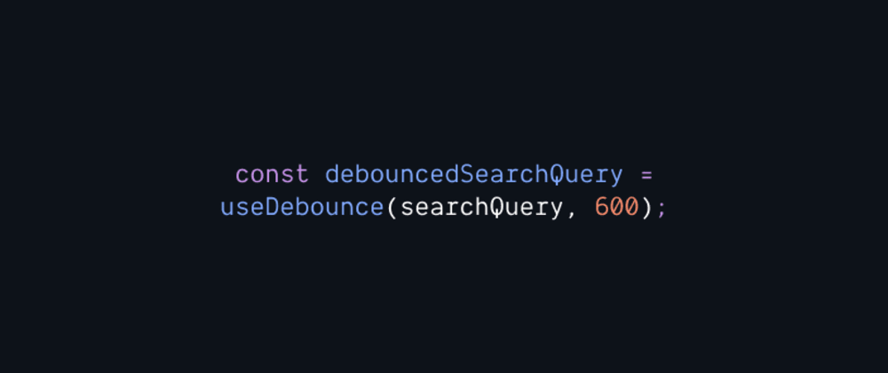 Cover image for Debounced and Typesafe React Query with Hooks