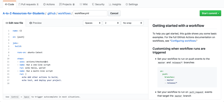 A screenshot of the Secrets menu within the Settings tab of a GitHub repository.