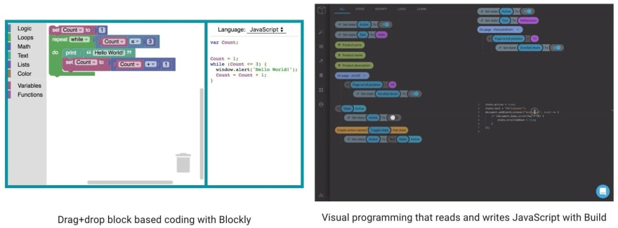 More visual coding open source projects