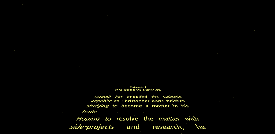 Developing the Star Wars opening crawl in HTML/CSS - DEV