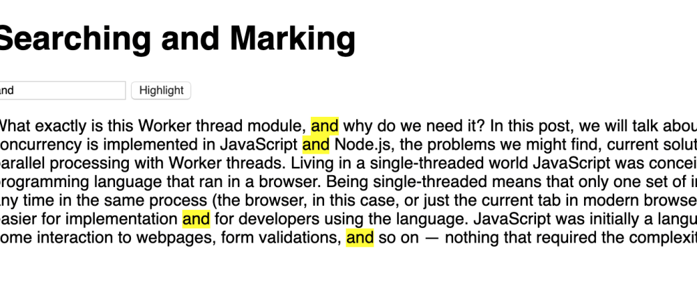 Cover image for Highlight Searched text on a page with just Javascript