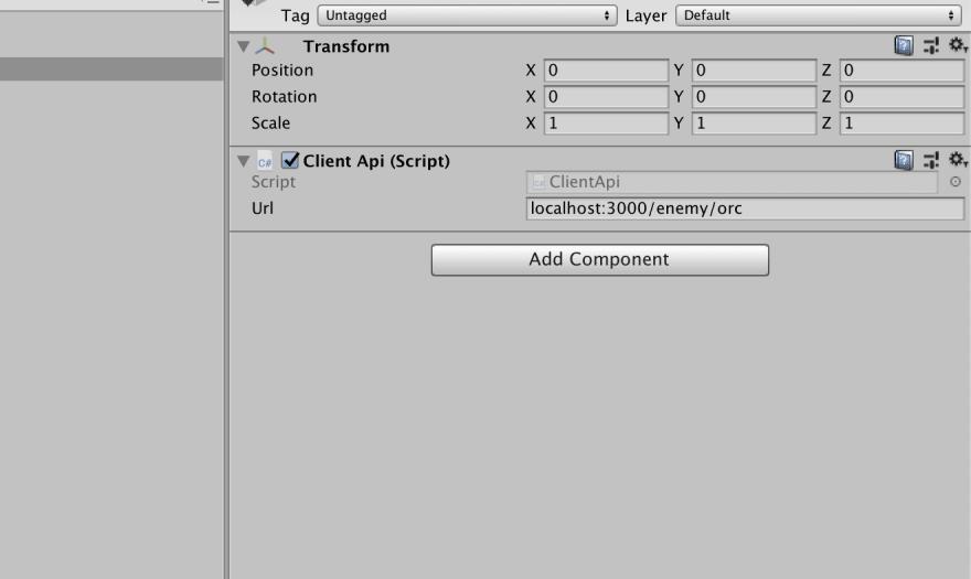 Unity client url