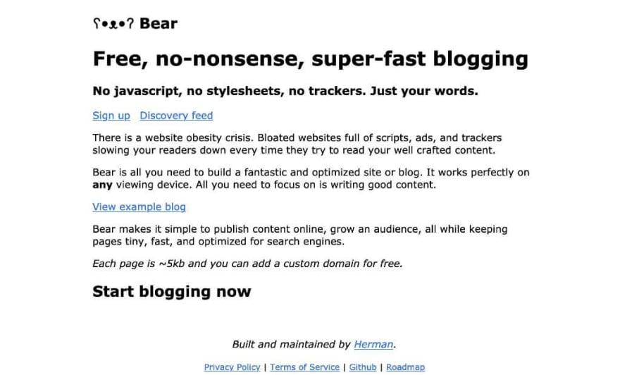 Bear Blog