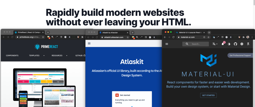 Cover image for Tailwindcss main site but what UI for my Admin Portal?