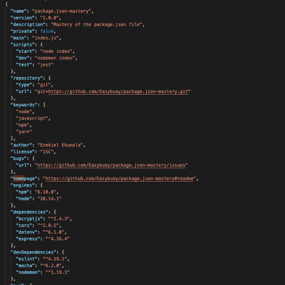 Understanding the package.json file - DEV