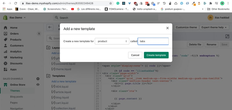 How to make product description tabs in Shopify without a Shopify app?