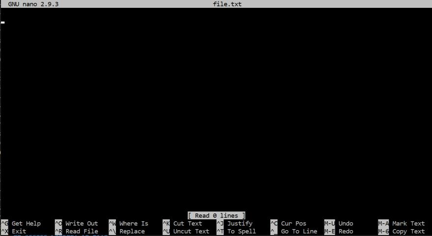 Nano screenshot