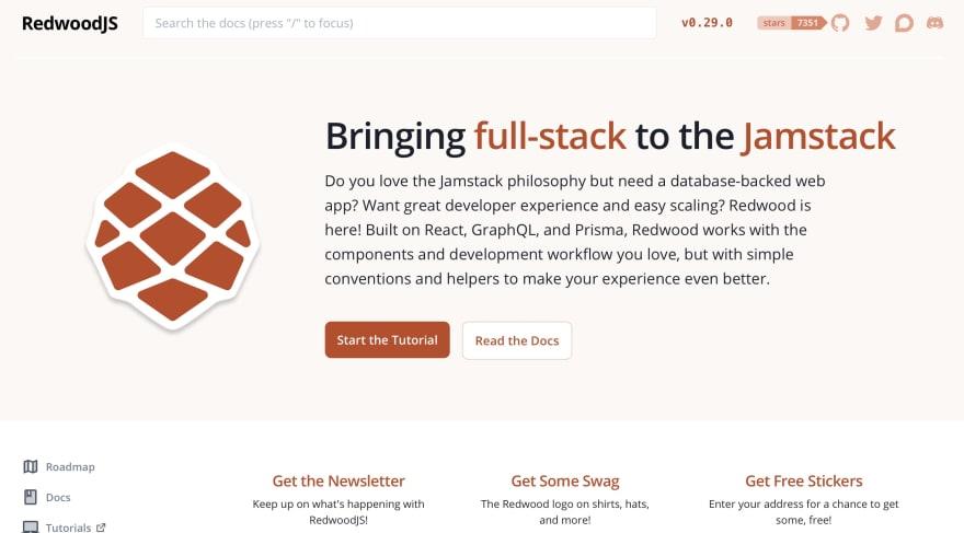 RedwoodJS Homepage