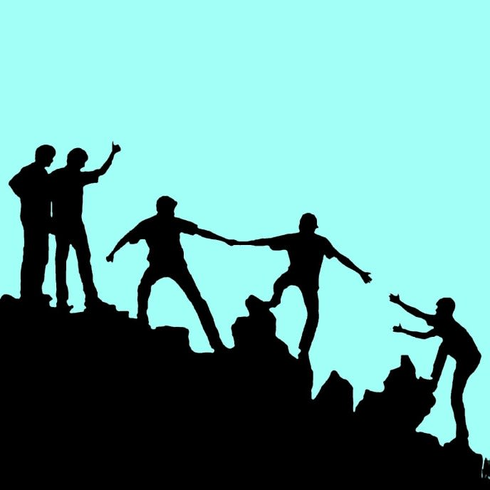 Resultat d'imatges de people helping each other