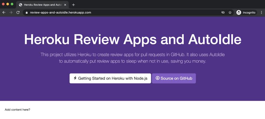 Demo app initial content
