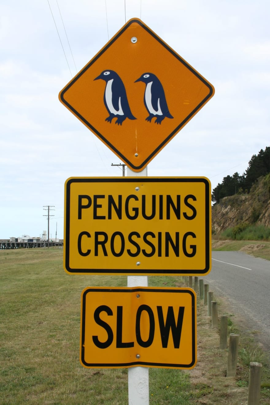 [Image source](https://commons.wikimedia.org/wiki/File:Road_Sign_Penguins_Crossing_NZ.jpg)