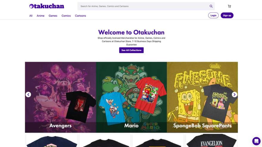 Custom Shopify Storefront from Otakuchan case study