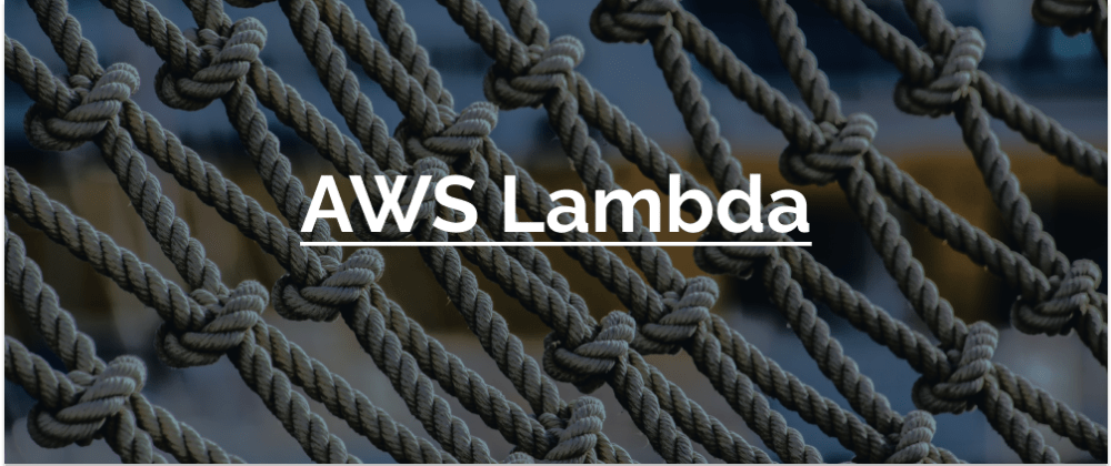 Cover image for Intro to AWS Lambda