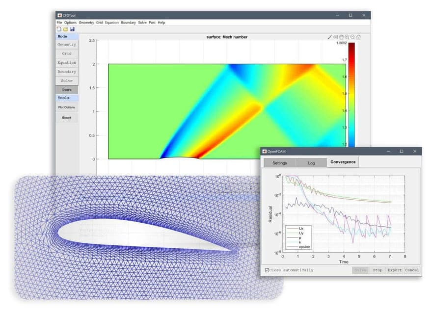 FEATool Multiphysics with Compressible and Swirl Flow Simulation