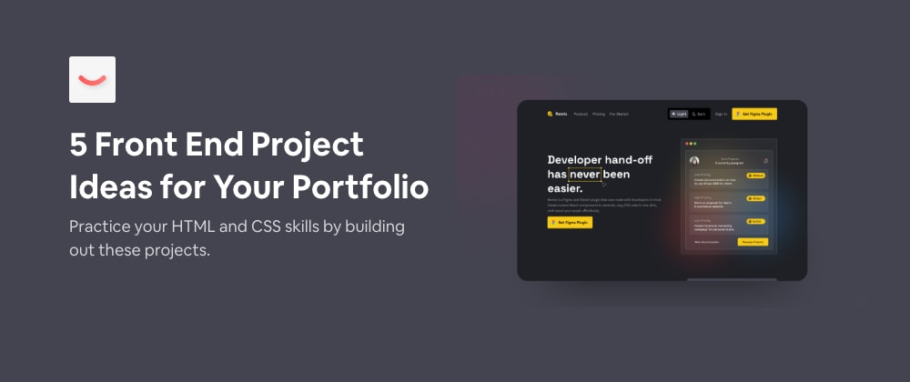 5 front end projects with design files to help you improve your HTML and CSS skills