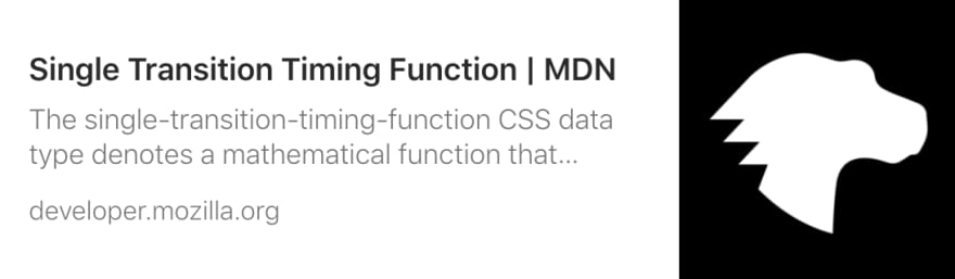 Link to MDN article on animation timing function