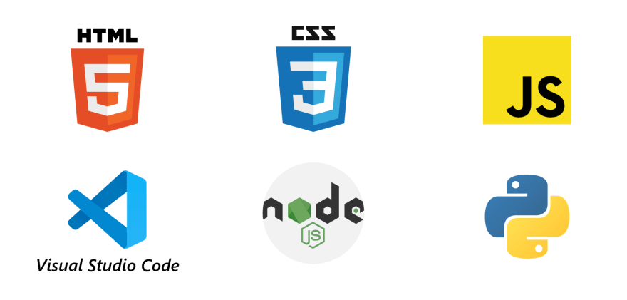 Javascript, Html, Css, Nodejs, Python
