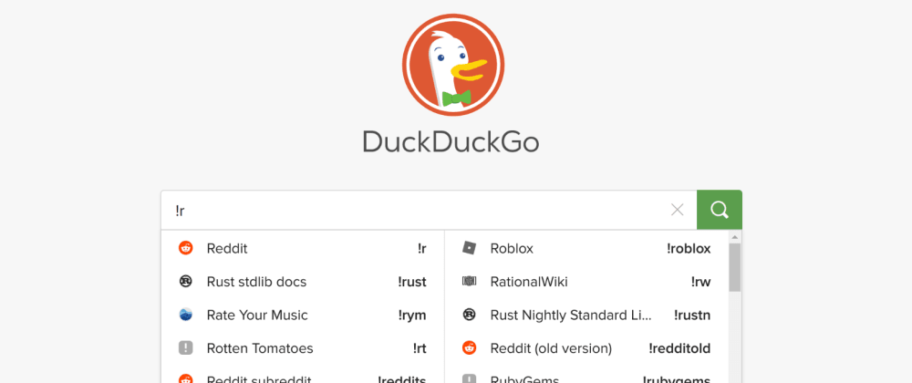 Cover image for DuckduckBang productivity