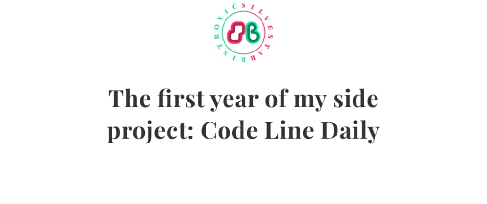 Cover image for The first year of my side project: Code Line Daily