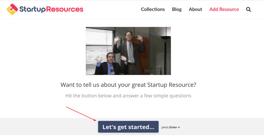 Getting Started on StartupResources.io