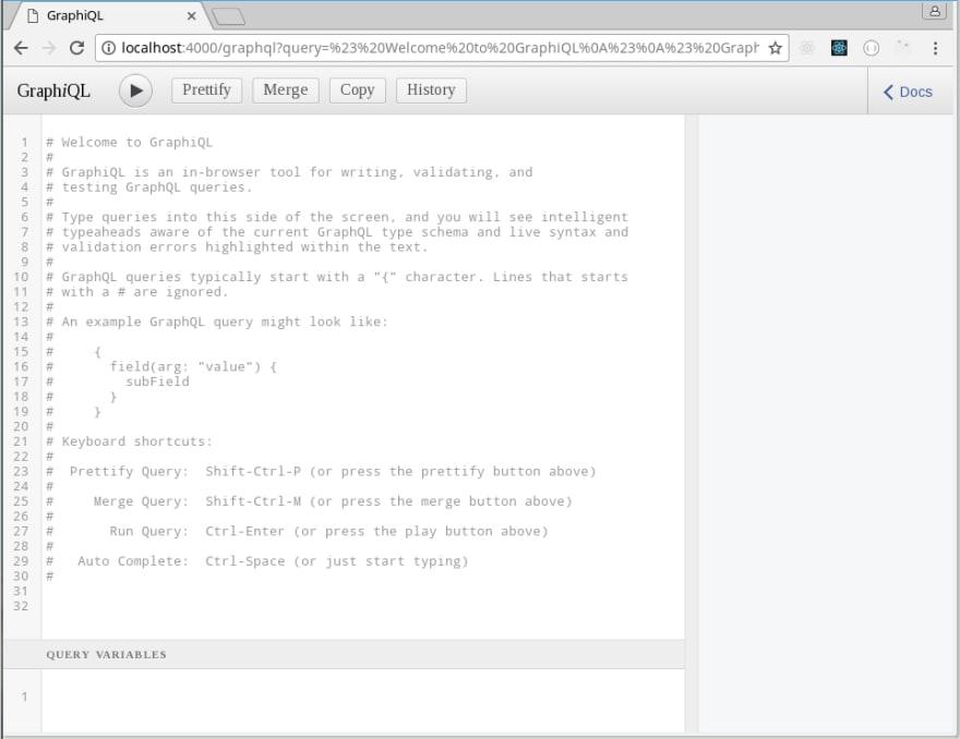 GraphiQL IDE