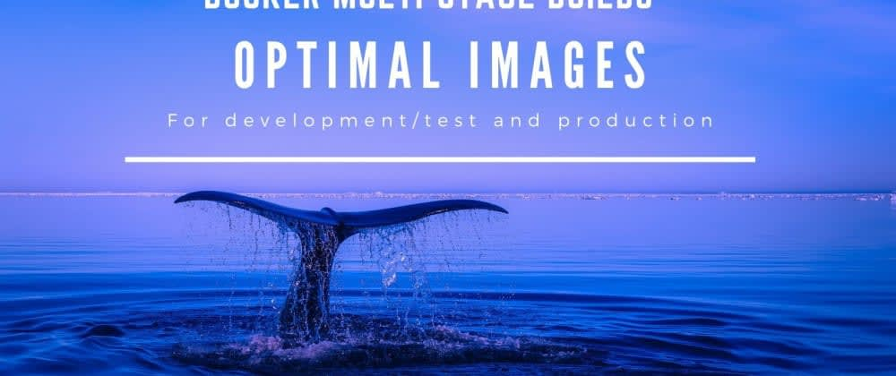Cover image for How to use docker multi-stage build to create optimal images for dev and production (NodeJs app example)