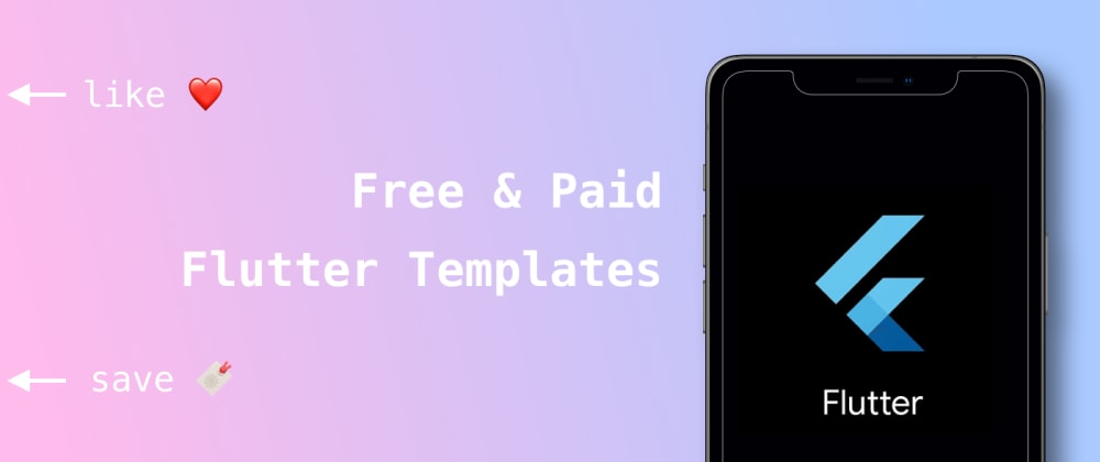 Cover image for Free & Paid flutter templates 2021