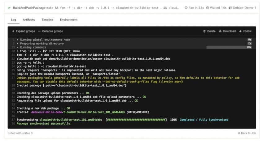 BuildAndPushPackage Step Complete