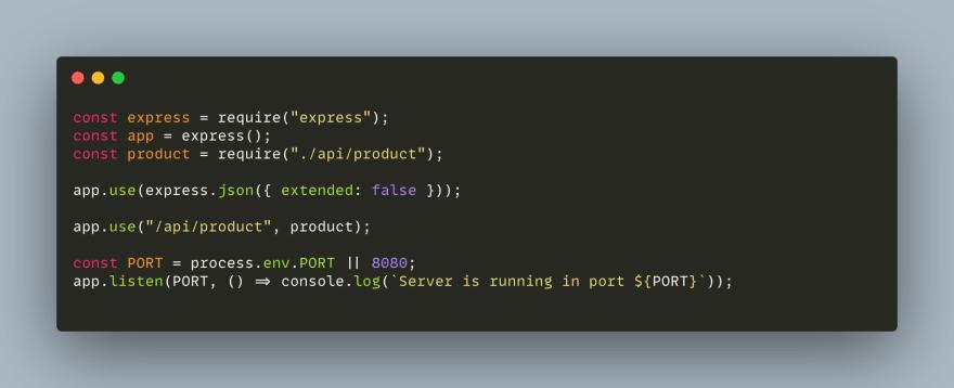 Creating index.js file
